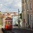 Royalty-Free Stock Photo: Red tram of Lisbon, Portugal
