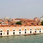 Venice from the sea with church Santa Maria del Salute — Stock Photo