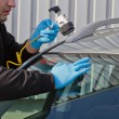 Repair crack in windshield — Stock Photo #7249460