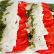 Italian flag salad - Stock Photo