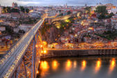 Bridge Ponte dom Luis above Porto , Portugal — Stock Photo