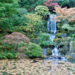 Portland Oregon Japanese Garden section Strolling Pond Garden - Stock Photo