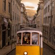 Royalty-Free Stock Photo: Yellow tram of Lisbon, Portugal