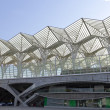 Lisbon modern architecture Gare do Oriente - Stock Photo