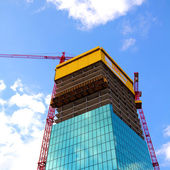 Construction of a modern building — Stock Photo