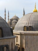 Roof view on the blue mosque in Istanbul Turkey — Stock Photo