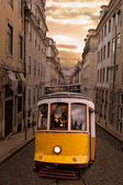 Yellow tram of Lisbon, Portugal — Stock Photo