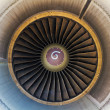Inside view jet engine — Stock Photo