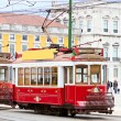 Red tram of Lisbon, Portugal — Stock Photo