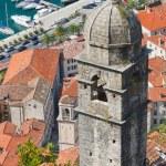 Chapel above Kotor town and Kotor bay, Montenegro — Stock Photo