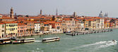 Venice old town seen from the sea — Stock Photo