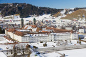 Cloister Einsiedeln in winter, Switzerland — Foto Stock