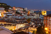 Lisbon old town at night, Portugal — Stock Photo