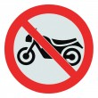No motorcycle sign, isolated bike prohibition zone signage - Stockfoto