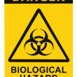 Biohazard symbol sign of biological threat alert black yellow triangle — Stock Photo #7629795