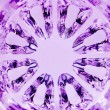Stock Photo: Kaleidoscopic MagentNatural Glass Texture Background