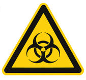 Biohazard symbol sign of biological threat alert isolated black — Stock Photo