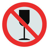 No alcohol sign, isolated drink prohibition zone crossed goblet — Stock Photo