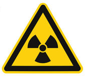 Radiation hazard symbol sign of radhaz threat alert icon isolated — Stock Photo