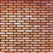 Red yellow beige tan fine brick wall texture background — Stock Photo