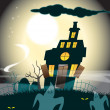 Haunted House and Ghosts — Stock Photo #6986508