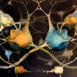 Neurons and nervous system - abstract background - Stock Photo