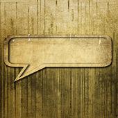 Bulle de dialogue sur fond grunge — Photo