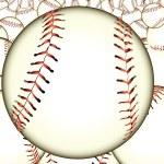 Ball baseball — Stock Vector