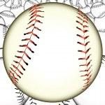 A lot of baseballs — Stock Vector