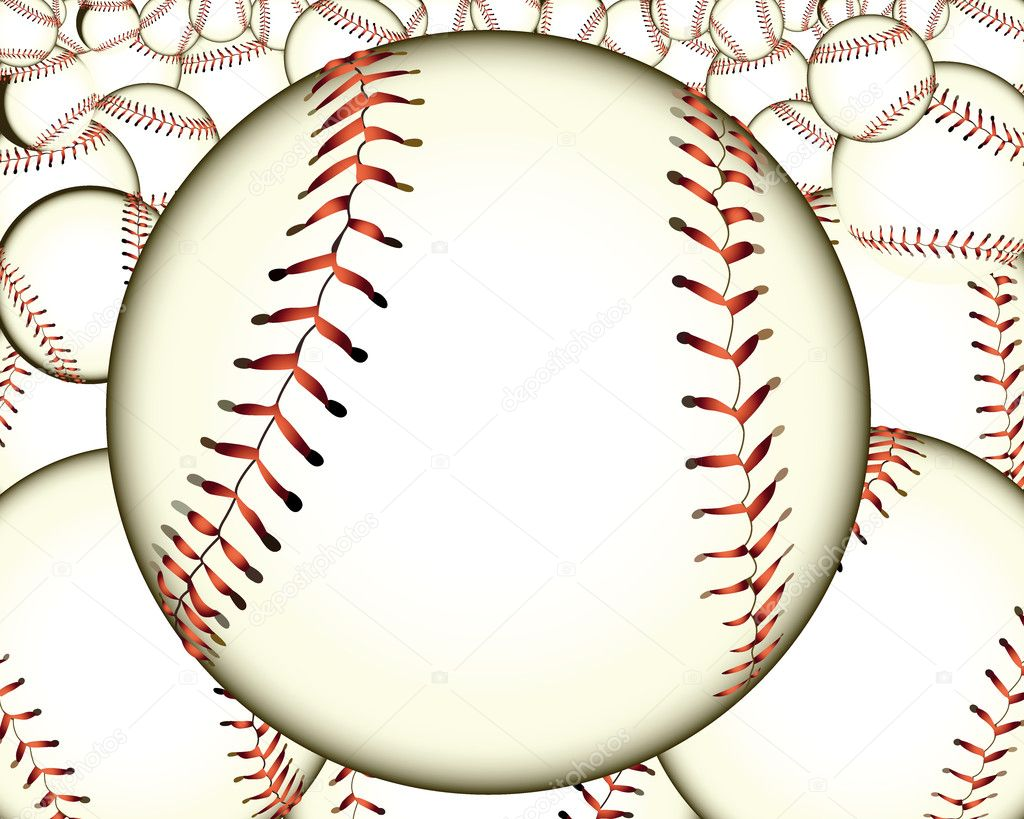 Ball baseball baseballs against the background — Stock Vector #7066740