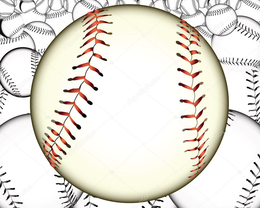 Ball baseball baseballs against the background — Stock Vector #7066746