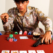 Gangster Poker - Stock Photo