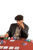 Man Playing Hold Um — Stock Photo