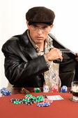 Gangster poker — Stockfoto