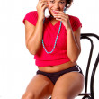 Sultry Telephone Woman — Stockfoto