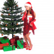 Santa's Sexy Helper — Stock Photo