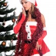 Santa's Sexy Helper - Stock Photo