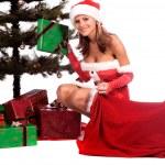Santa's Sexy Helper — Stock Photo