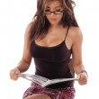 Sexy Woman Reading — Stock Photo #6868413