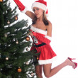 Stock Photo: Santa's Sexy Helper