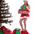 Santa's Helper Mrs Claus — Stock Photo