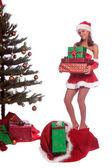 Santa's Helper Mrs Claus — Stock Photo
