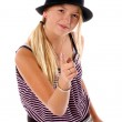 Girl Child Pointing — Stock Photo #6875277