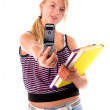 Back To School Cell Phone — Stock Photo