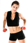 Free Weight Work Out — Stock Photo
