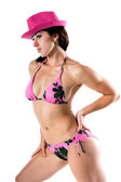 Bikini Girl In Pink Bikini — Stock Photo