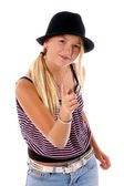 Girl Child Pointing — Stock Photo