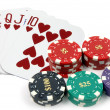 Stock Photo: Royal Flush Hearts