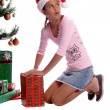 Christmas Sneak - Stock Photo