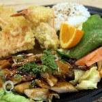 TeriYaki Chicken Combo Plate — Stock Photo